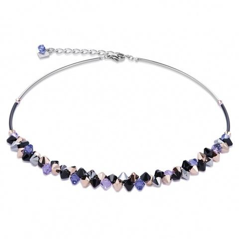 Колье Coeur de Lion 4938/10-0800 цвет фиолетовый, чёрный, серый