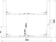 Подъёмник двухстоечный гидравлический г/п 4т - STORM 6140