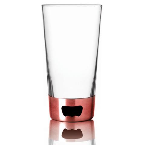 Бокал Asobu Pint glassopener (0,48 литра), красный