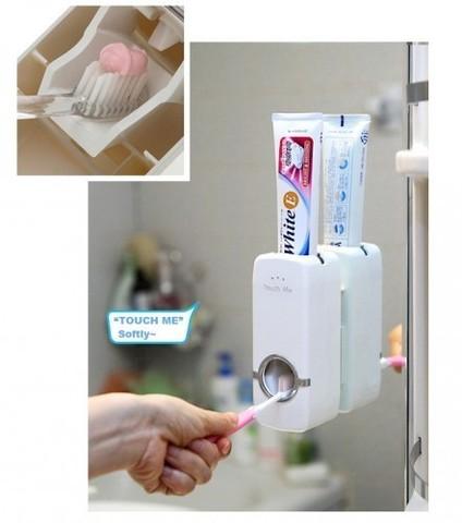 Автоматический диспенсер для зубной пасты Дозатор + держатель щёток