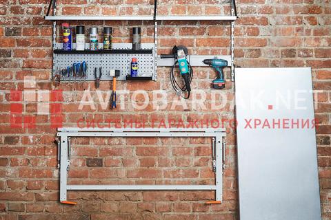 Набор №22 Верстак для гаража, полки, рейлинги для инстурментов