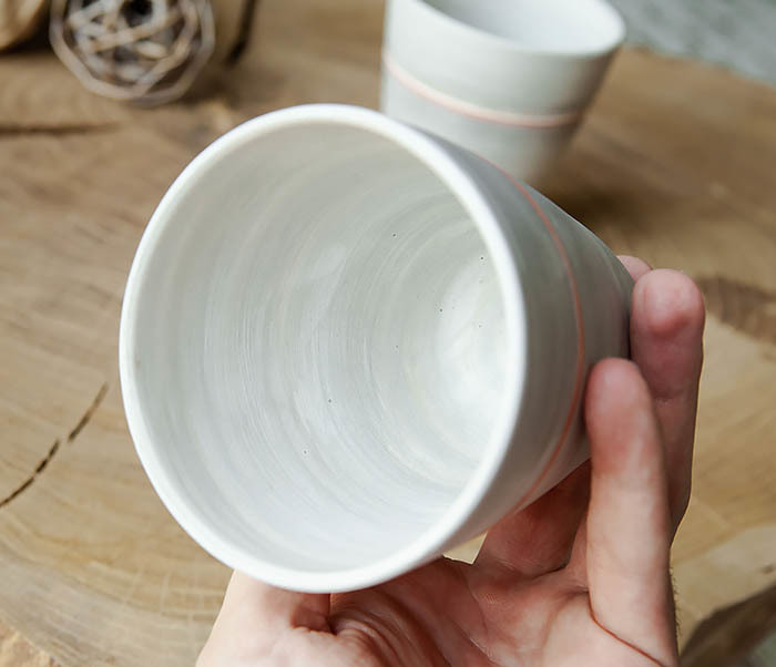CUP107-1 Оригинальный керамический стакан ручной работы фото 07