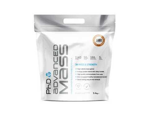 PhD Advanced Mass 2.7kg, протеиновая смесь для набора массы, вкус Шоколадно-Ореховая паста, 2,7 кг