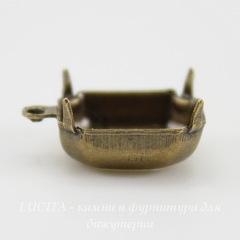 Сеттинг - основа - подвеска для страза 12х10 мм (оксид латуни)