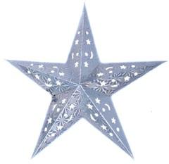 Звезда бумажная голографическая серебряная (45см)