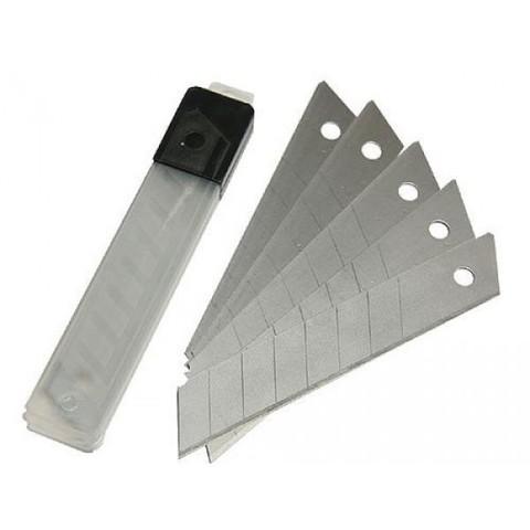 Лезвия 18 мм, для ножа технического (строительного), 10 штук, сегментированные,