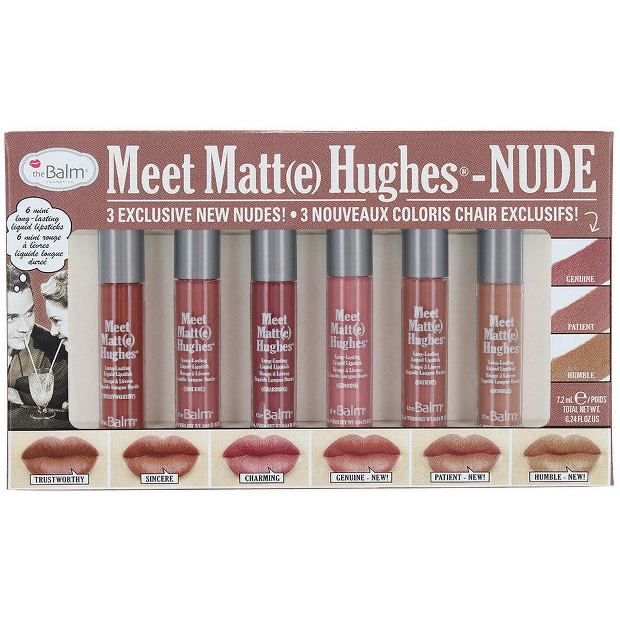 Набор помад The Balm Meet Matte Hughes Nude