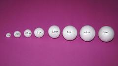 054-6237 Шар из пенопласта, 3 шт.(6см)