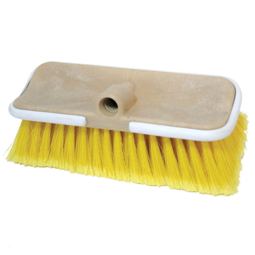 Boat wash brush 'Flow Thru' Bi-Level, Medium bristle, yellow