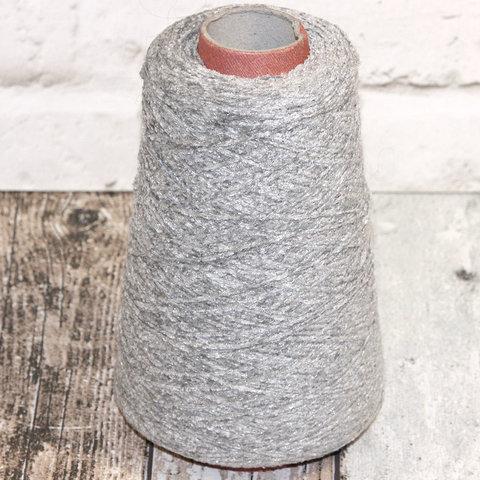 Вискозный велюр с люрексом 580 серый с серебром