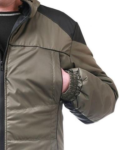 Куртка мужская, оливковая с черным
