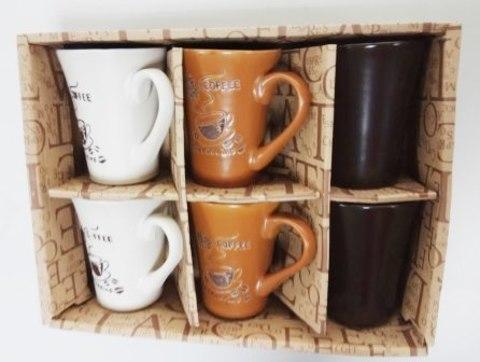 Кружки сред.тюльпан кофейные 6 в 1уп.XH1-7