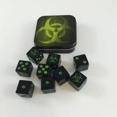 Legion Supplies - Iconic Bio 9 шестигранных кубиков в железной коробочке