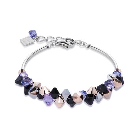 Браслет Coeur de Lion 4938/30-0800 цвет фиолетовый, чёрный, серый