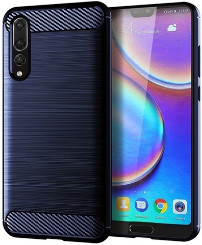 Чехол Huawei P20 Pro цвет Blue (синий), серия Carbon, Caseport
