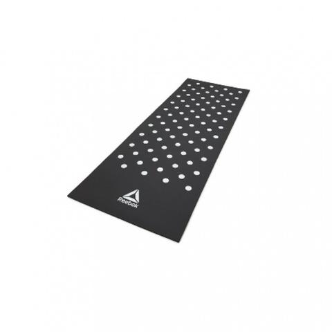RAMT-12235BK Тренировочный коврик (фитнес-мат) Reebok Белые Пятна, 7 мм, черный