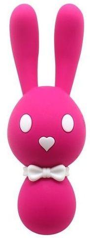 Розовый вибростимулятор-зайчик Dorcel - 16 см.