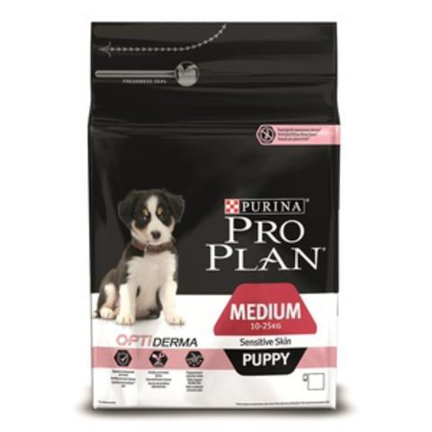 Puppy Medium Sensitive Skin - для щенков средних пород с чувствительной кожей с лососем