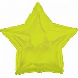 Фольгированный шар Звезда Лайм 18