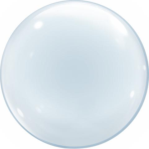 Шар (18''/46 см) Сфера 3D, Deco Bubble, Прозрачный