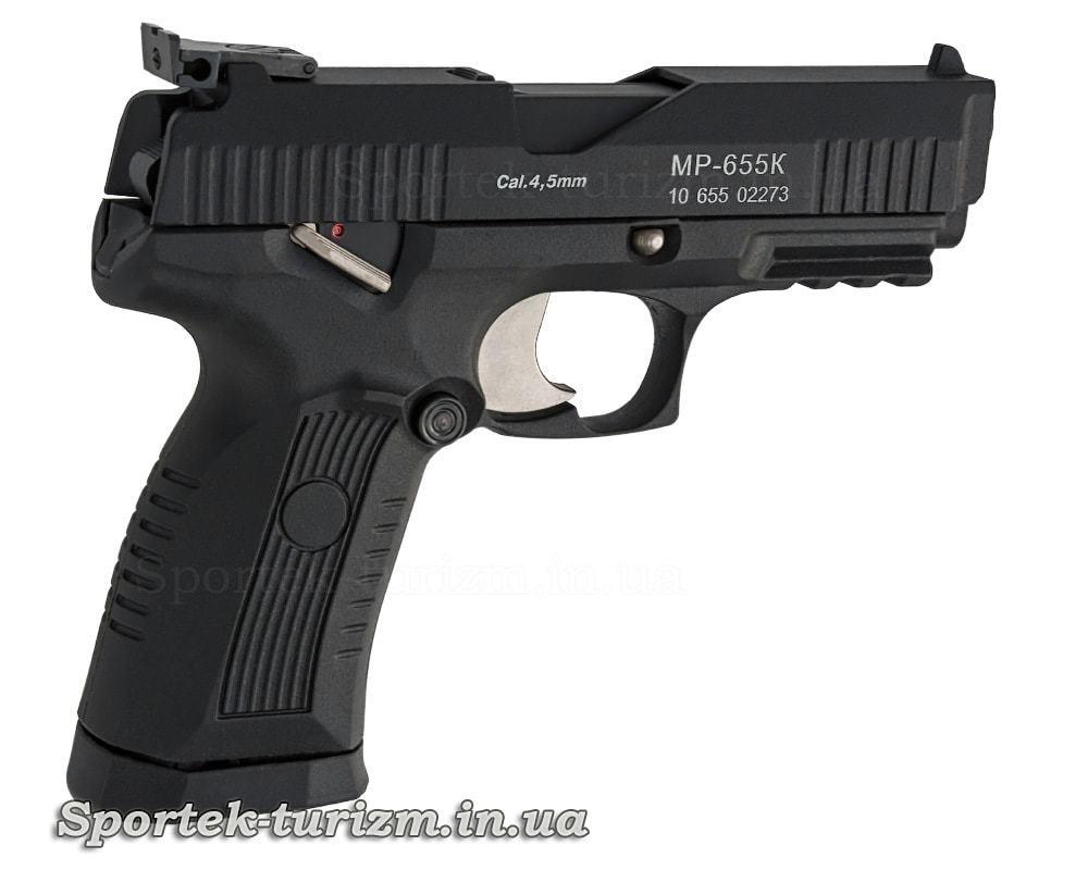 Вид праворуч пневматичного пістолета Baikal MP-655К