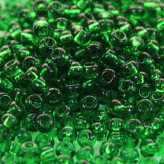 50120 Бисер 8/0 Preciosa прозрачный зеленый