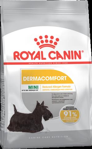Mini Dermacomfort -  корм для собак мелких размеров с раздраженной и зудящей кожей.