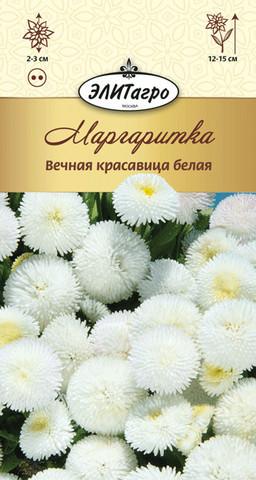 Семена Маргаритка Вечная красавица белая мнг