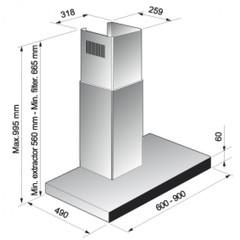 Вытяжка Korting KHC 9770 X - схема