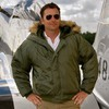Куртка Мужская Alpha N-2B Flight Jacket (оливковая -S.green)
