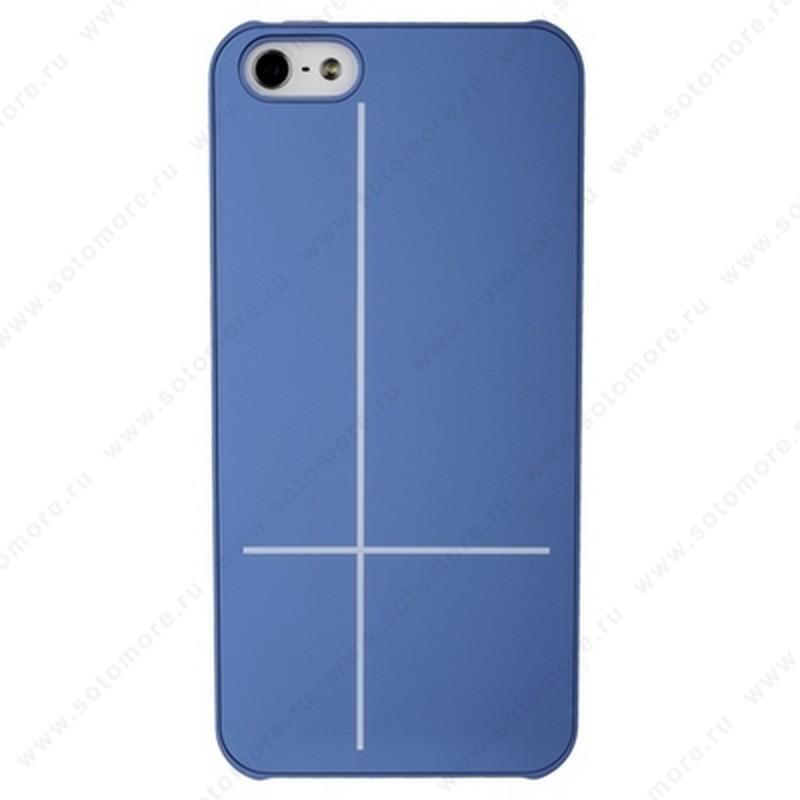 Накладка GUOER для iPhone SE/ 5s/ 5C/ 5 голубая
