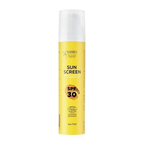 Крем для лица и тела солнцезащитный Sun Screen SPF 30 COSMOS ORGANIC, 100 мл (Mi&Ko)