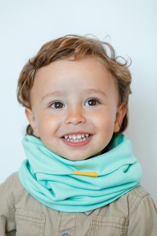 Детский снуд-горловинка из хлопка гладкий мятный