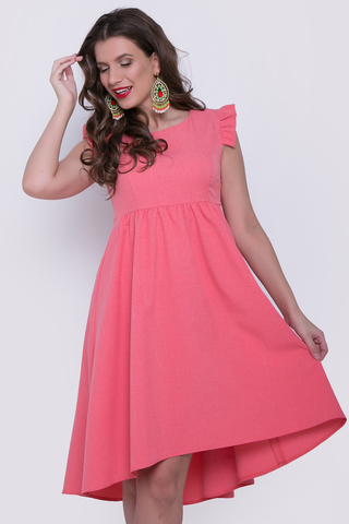 """<p>Легкое летнее платье, которое является открытым вызовом женственности! Основная задача - подчеркнуть """"нужное"""" и скрыть """"лишнее"""" !!! Платье с завышенной линией талии, сбоку замок.</p>"""