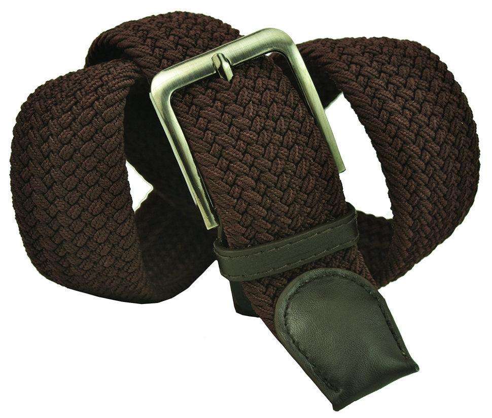 Ремень-резинка мужской текстильный коричневый 40 мм 40Rezinka-003