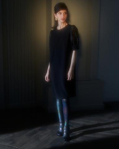 Платье с рукавами-буфами