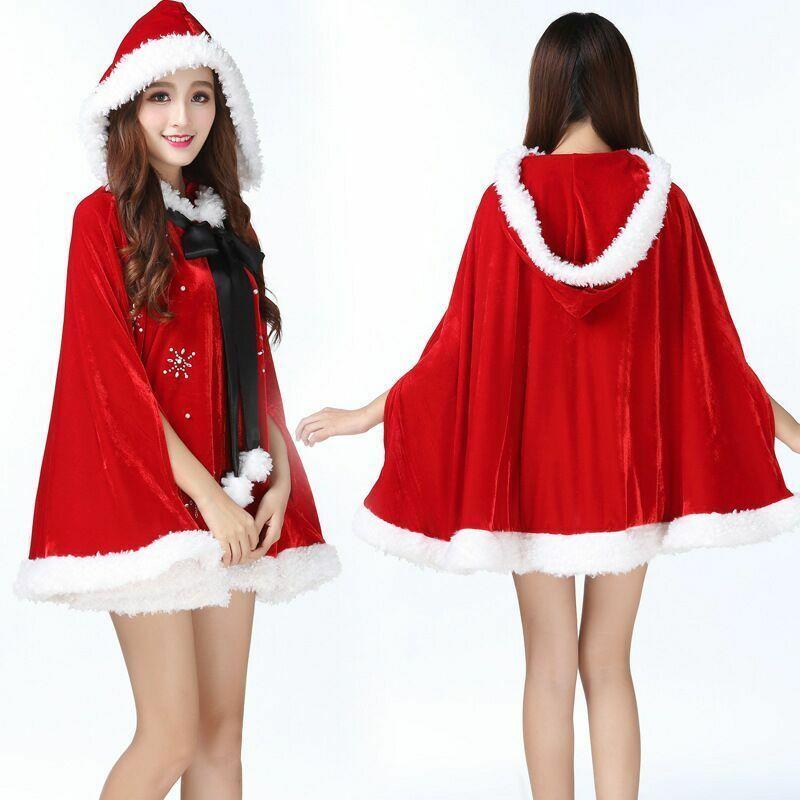 Рождественская накидка Санта для девушек