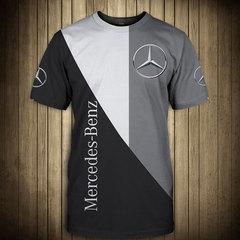Футболка 3D принт, Mercedes-Benz  (3Д Мерседес-Бенц) 01