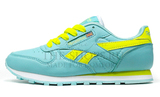 Кроссовки Женские Reebok Classic Leather Light Blue Yellow