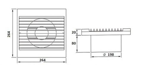 Вентилятор Dospel Styl 200S