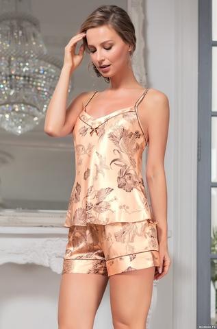 Пижама женская шелковая  Mia-Amore LETUAL Летуаль 3432 роза