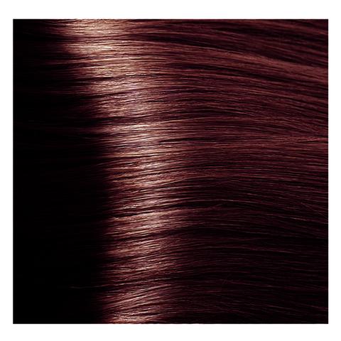Крем краска для волос с гиалуроновой кислотой Kapous, 100 мл - HY 4.5 Коричневый махагоновый