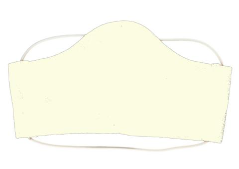 Маска тканевая (M, молочная)