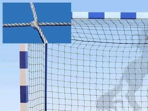 Сетка гандбольная (футзальная) 3D, без гасителя, ширина 3 м, высота 2 м, диаметр нити 2 мм 100x100, глубина верха 0.8 м, глубина низа 1.0 м: (00003232):