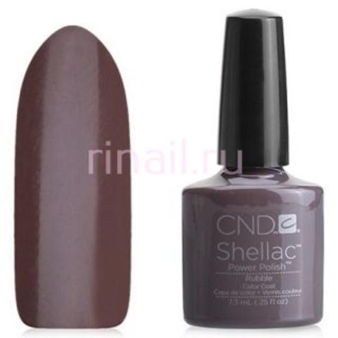 CND Шеллак 7,3 мл, Rubble коричневый, пастельный, плотный