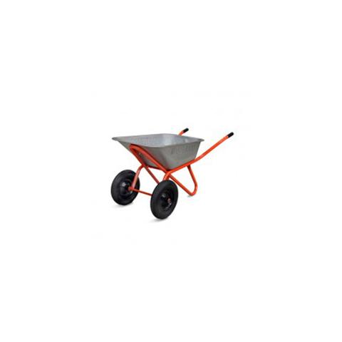 Тачка 85л садовая (красная) с колесами 3,25 D20, г/п 200 кг