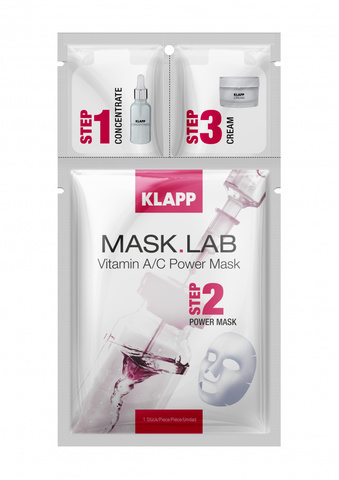 Трёхшаговый набор экспресс-ухода за кожей Vitamin A/C MASK.LAB, KLAPP