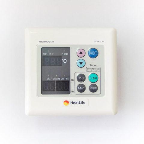 Встраиваемый терморегулятор расчетной мощностью 6 кВатт (27,5 А) с цифровым индикатором и функцией программирования.