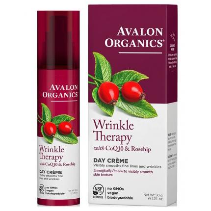 Дневной крем с коэнзимом Q10 и шиповником, Avalon Organics