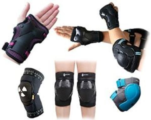 Купить защиту на колени, локти, ладони для велосипедистов и роллеров